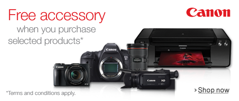 Free Accessory with Canon
