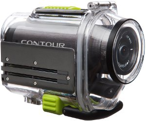 PIcture shows the Contour+2 camera mounted inside the supplied waterproof case.