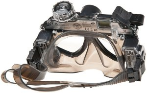 Picture shows the Scuba Series HD 1080p mask from the back.