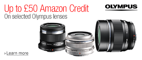 Get Up to £50 to Spend at Amazon When You Buy a Selected Olympus Lens