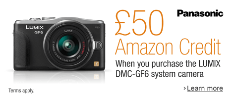 Get 50 to Spend on Amazon when you Buy a Panasonic DMC-GF6 Lumix Compact System Camera