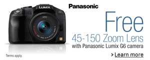 Free 45-150 Zoom Lens with Panasonic G6 Camera