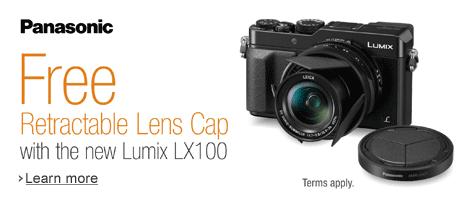 Free Retractable Lens Cap with Panasonic Lumix LX100