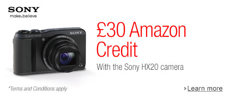 Get 30 to Spend on Amazon when you Buy a Sony Cyber-shot DSC-HX20V Super-Advanced High Zoom Camera