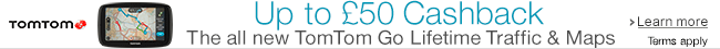 Get up to �50 on TomTom GO Satnavs