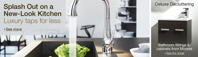 Luxury Kitchen Taps and Bathroom Storage