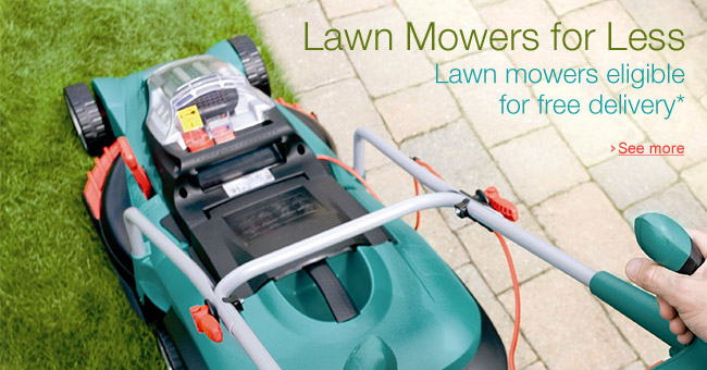 Lawn Mowers Eligible for Free Delivery*
