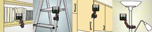 The MM2 clamp means you can position your Quigo anywhere--on shelves, ladders, chairs, doors and more.