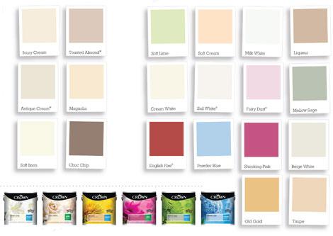 Crown Kitchen & Bathroom Jersey Cream Satin Cupboard Paint
