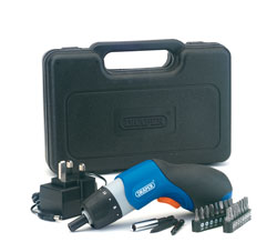 The Draper 72855 3.6-volt cordless palm screwdriver kit is ideal for DIY jobs in and around the home