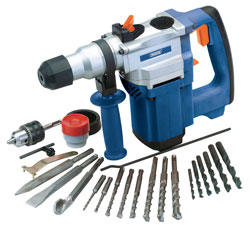 The Draper 73397 SDS+ rotary hammer drill kit provides plenty of power and is ideal for DIY enthusiasts