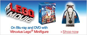 The Lego Movie Minifigure Edition on Blu-ray and DVD with limited edition Vitruvius figure--Shop now