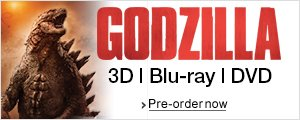 Godzilla on Blu-ray 3D, DVD and Blu-ray--Shop now