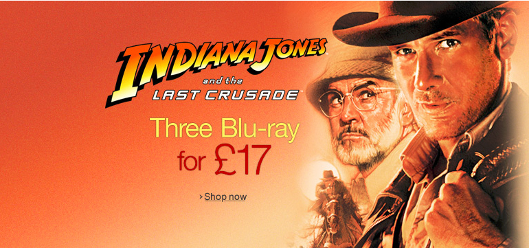 Three Blu-ray for £17