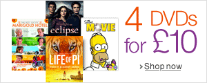 Four DVDs for £10--Shop Now