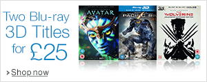 Two Blu-ray 3D Titles for £25--Shop Now