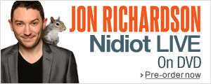 Jon Richardson - Nidiot Live--Pre-order now