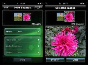 Print your photos using the free Canon App