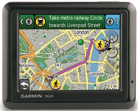 The slimline Garmin nüvi 1210 includes City Explorer, that allows you to get around a city on foot