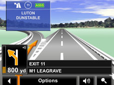 Reatlity View Pro enables the drive to see a realistc simulation of a road