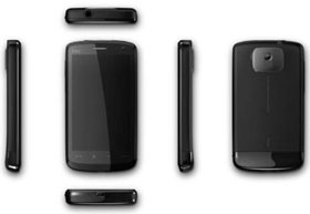 Six side view of HTC Touch HD