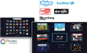 Skype and online content on your TV