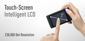 Three inch touchscreen LCD