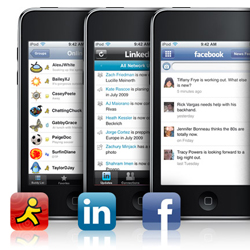 Social networking is easy on the iPod touch