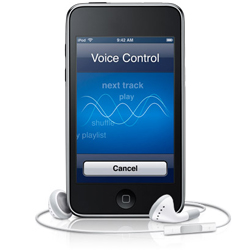 Operate your iPod Touch via Voice Control