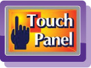 """2.7"""" Wide (16:9) Hybrid Touch Panel Clear Photo LCD Plus™ Display (123K Pixels)"""