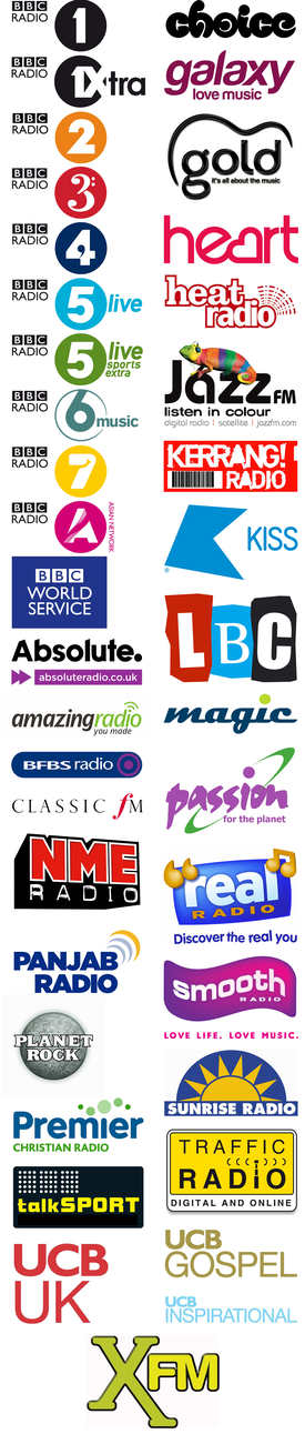 Radio station logos