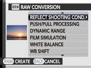 Explore great settings with RAW functionality