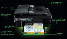 The Officejet 4500 is full of features for professional printing
