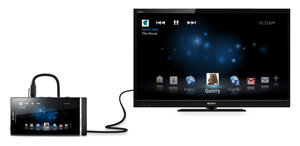 Sony Ericsson Xperia S smartphone and HD TV