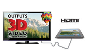 Smooth 3D & Full 1080P HD output to your TV or Monitor