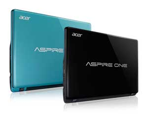 The Aspire One 725 is available in two cool colours