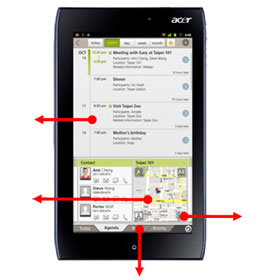 See how you can plan and interact with events on the move with the ICONIA TAB A100
