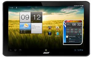 The UI on the Iconia A210 Tab has been enhanced for increased responsiveness.