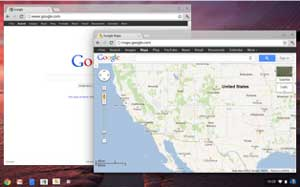 The Chrome OS features a new user interface, and thousand of useful apps, including Google Maps.