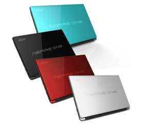 The Aspire One 756 is available in four striking colours