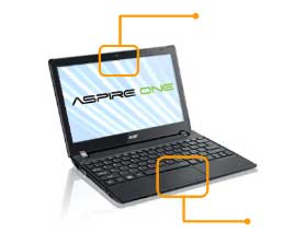 See  how all the features of the Aspire One 756 fit together