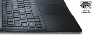The S5 is designed for extended use, with a large and comfortable chiclet keyboard