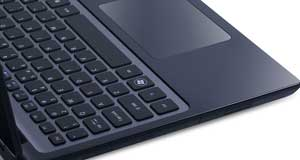 The Aspire M3 features an attractive chiclet keyboard, and included optical disc drive. 