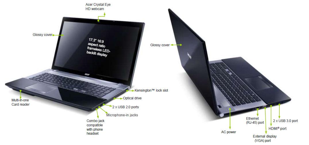 Acer Aspire V3 771G 173 Inch Laptop