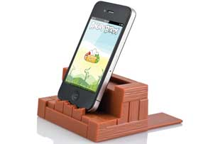 The universal stand fits all phones, MP3 players, and tablets.