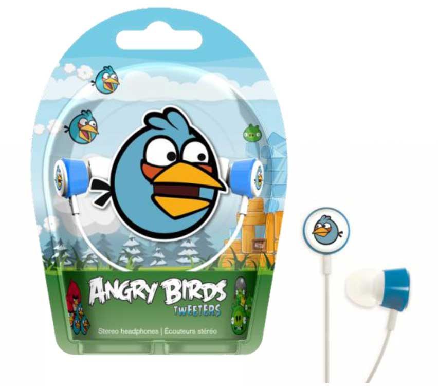 GEAR4 Angry Birds In Ear Stereo Headphones   Blue Bird Tweeters