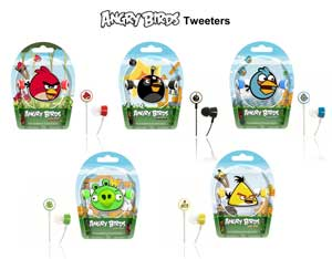 There's a full range of Angry Birds to choose from, each with their own colour-coded headphones.