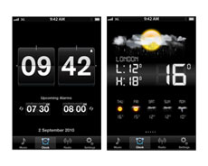 Synch the time, set alarms, and view the weather for the week ahead with the Smartlink app.