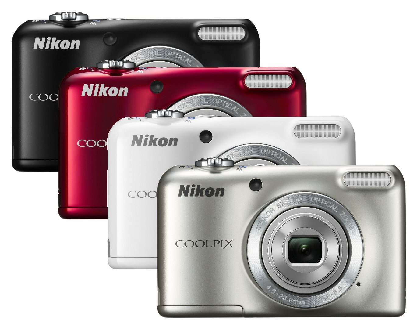Style accessory the Nikon COOLPIX L27 is available in four stylish
