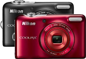 Picture shows a montage of the two colours of camera available - Black and Red